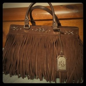 Ralph Lauren western purse with fringe...